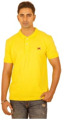 Bleidd Solid Men's Polo Neck Yellow T-Shirt