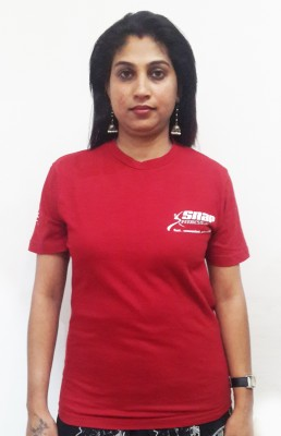 Snap fitness Solid Women's Round Neck Red T-Shirt