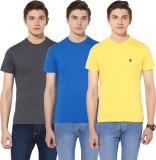 Turtle Solid Men's Round Neck Grey, Blue...