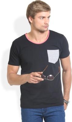Thisrupt Solid Men's Round Neck Black T-Shirt