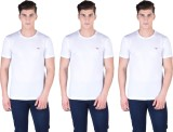 Force Nxt Solid Men's Round Neck White T...