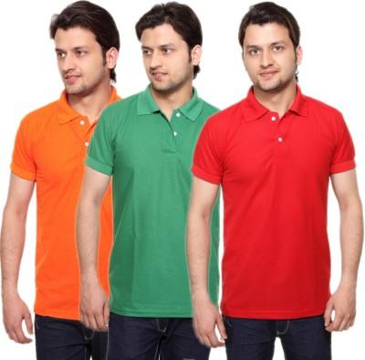 MANGO REPUBLIC Solid Men's Polo Neck Reversible Multicolor T-Shirt