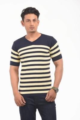 AMX Striped Men's V-neck Multicolor T-Shirt