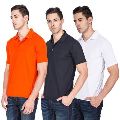 River Nation Solid Men's Polo Neck Multicolor T-Shirt