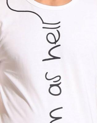 Escobar Printed Men's Round Neck White T-Shirt
