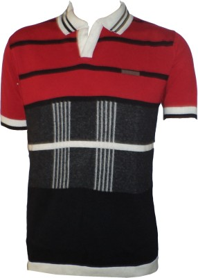Tick Lish Striped Men's Polo Neck T-Shirt