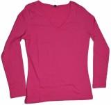 Golfer Solid Women's V-neck Pink T-Shirt