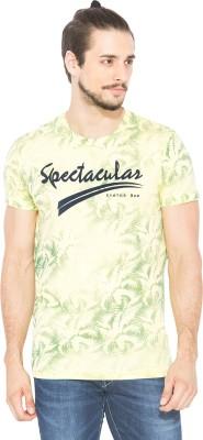 Status Quo Printed Men's Round Neck Yellow T-Shirt