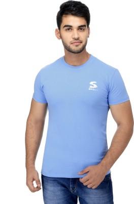 Surly Solid Men's Round Neck Light Blue T-Shirt