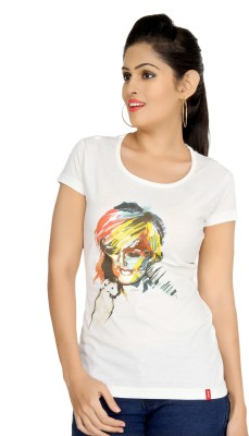 Oner Casual Short Sleeve Printed Women's White Top