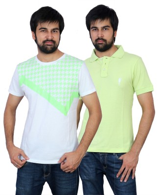 The Casanova Solid Men's Polo Neck Multicolor T-Shirt