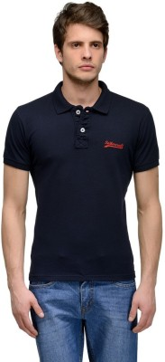 Tailor Craft Solid Men's Polo Dark Blue T-Shirt