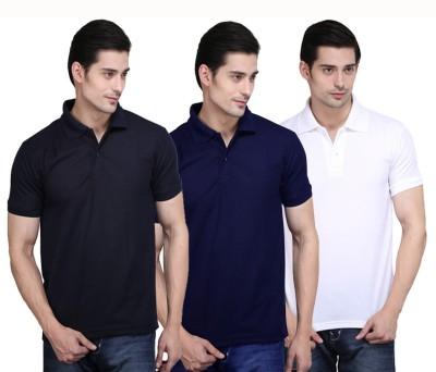 NE Solid Men's Polo Neck Multicolor T-Shirt