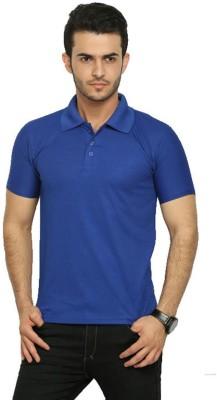 Lowcha Solid Men's Polo Blue T-Shirt