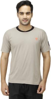 1OAK Solid Men's Round Neck Beige T-Shirt