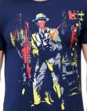 Slingshot Printed Men's Round Neck Blue ...