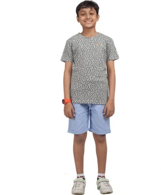 NOQNOQ Printed Boy's Round Neck Multicolor T-Shirt