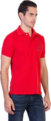 Green Wich United Polo Club Solid Men's Polo Neck Red T-Shirt