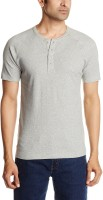 Levis Men's Wear - Levi's Solid Men's Henley Grey T-Shirt