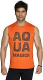 Aquamagica Printed Men's Round Neck Oran...