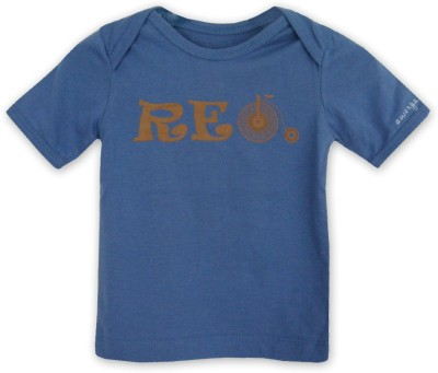 ATUN Printed Baby Boy's Round Neck Blue T-Shirt