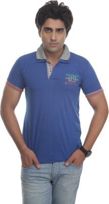 TT Solid Men's Polo Neck Reversible Blue T-Shirt
