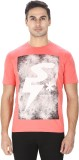 Sparky Printed Men's Round Neck Pink T-S...