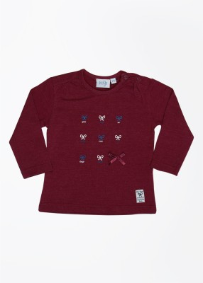 Feetje Printed Round Neck Maroon T-Shirt