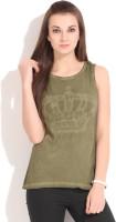 Alibi Solid Women's Round Neck Green T-Shirt best price on Flipkart @ Rs. 399