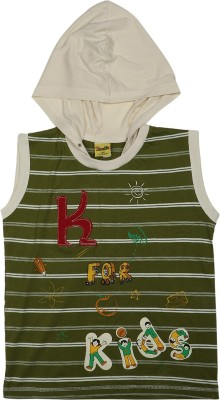 Toons Striped Boy,s Hooded T-Shirt