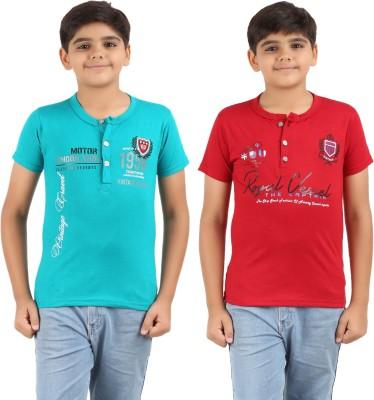 Graceful Printed Boy's Fashion Neck T-Shirt