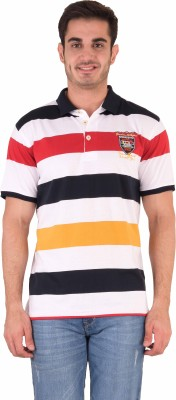 Kingswood Striped Men's Polo Red T-Shirt