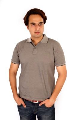 Maggivox Solid Men's Polo Grey T-Shirt