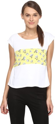 Annapoliss Floral Print Women's Round Neck Multicolor T-Shirt