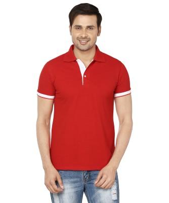 EPG Solid Men's Polo Red T-Shirt