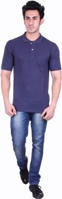 SEABOARD Solid Men,s Polo Neck Purple T-Shirt