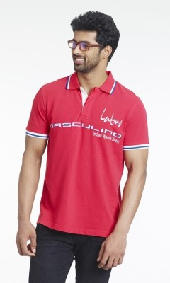 Masculino Latino Printed Men's Polo Red T-Shirt
