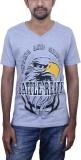 Caddo Printed Men's V-neck Grey T-Shirt