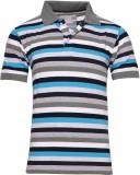 SnowFox Striped Men's Polo Neck Multicol...