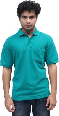 Romano Solid Men's Polo Green T-Shirt