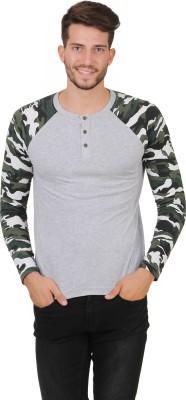 Cherymoya Solid Men's Round Neck Multicolor T-Shirt