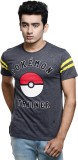 Pokemon Printed Men's Round Neck Grey T-...