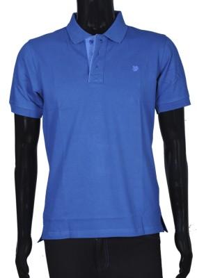 Bib & Tucker Solid Men's Polo Neck Dark Blue T-Shirt