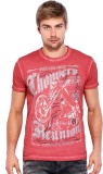 Rookies Printed Men's Round Neck Red T-S...