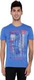 Rookies Printed Men's Round Neck Blue T-...
