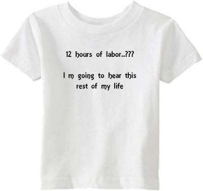 Chota Packet Solid Baby Boy,s, Baby Girl's Round Neck White T-Shirt