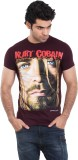Zulements Printed Men's Round Neck Maroo...