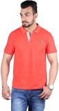 Shineway Solid Men's Polo Neck Red T-Shi...
