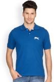 Ants Solid Men's Polo Neck Blue T-Shirt