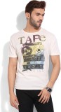 GAS Printed Men's Round Neck White T-Shi...